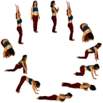 Sun Salutation or Surya Namaskar.